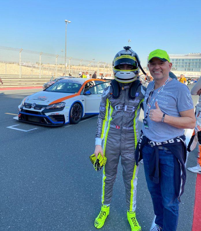 Miklas + Vater Christian Born an der Startaufstellung
